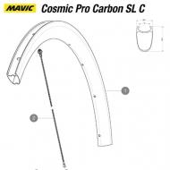 Mavic Cosmic Pro Carbon SL C Ersatzspeiche Hinterrad rechts 260 mm Mod 2017