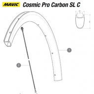 Mavic Cosmic Pro Carbon SL C Ersatzspeiche Hinterrad rechts 278 mm Mod 2017