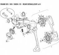 Sram X01 DH Schaltwerk Ersatzteil Schaltarm innen medium Cage mit Schaltraedchen