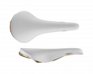 Selle San Marco Rolls Sattel Le Bianche weiss Gestell Stahl
