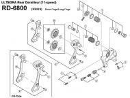 Shimano Ultegra RD 6800 Kettenleitblech aussen mit Stop Nr 8