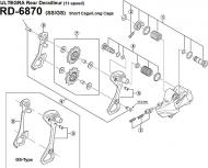 Shimano Ultegra RD 6870 Schaltwerk-Einstellschraube Nr 3