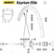 Mavic Ksyrium Elite Speiche Hinterrad links 299,5 mm schwarz Nippel blau Modell 2016-17
