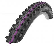Schwalbe Dirty Dan Evo Reifen Addix Ultra Soft SuperGravity 27,5 Zoll x 2.35 schwarz pink