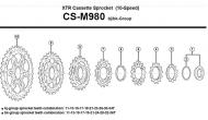 Ersatzteile Shimano XTR CS-M980 Kassette 10 fach