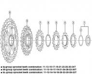 Ersatzteile Shimano Deore XT CS-M771 Kassette 10 fach