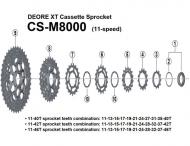 Ersatzteile Shimano Deore XT CS-M8000 Kassette 11 fach