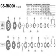 Ersatzteile Shimano Ultegra CS-R8000 Kassette 11 fach