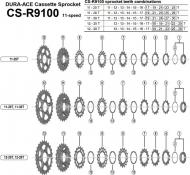 Ersatzteile Shimano Dura Ace CS-R9100 Kassette 11 fach