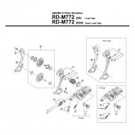 Ersatzteile Shimano XT RD-M772 Schaltwerk