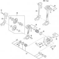 Shimano XT RD-M770 / RD-M771 Schaltwerk - Befestigungsschraube fuer Schaltraedchen