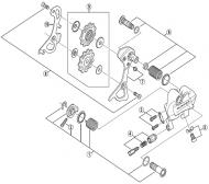 Shimano Dura Ace RD-7900 Schaltwerk - Anschlag Schraube mit Platte Nr 3