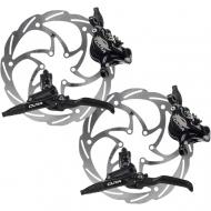 Disc Set Formula Cura Bremse schwarz + Monolitic Scheiben 6 Loch