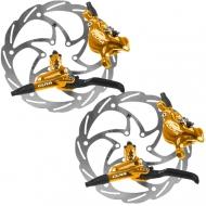 Disc Set Formula Cura Bremse gold + Monolitic Scheiben 6 Loch