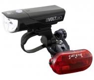 Cat Eye GVolt25 + Omni 3G Beleuchtungsset StVZO zugelassen Farbe schwarz - rot