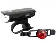 Cat Eye GVolt20RC + Loop 2G Beleuchtungsset StVZO zugelassen Farbe schwarz - rot