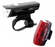 Cat Eye GVolt25 + Rapid Micro G Beleuchtungsset StVZO zugelassen Farbe schwarz - rot
