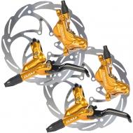 Disc Set Formula Cura 4 Bremsen gold + Monolitic Scheiben 6 Loch
