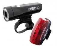 Cat Eye GVolt50 + Rapid Micro G Beleuchtungsset StVZO zugelassen Farbe schwarz - rot