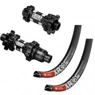 27,5 Zoll Laufradsatz MTB DT Swiss 350 Straightpull Naben Disc 6 Loch + DT Swiss XR 361 Felgen