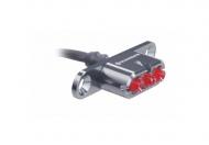 Supernova E3 Tail Light 2 Ruecklicht LED 6V Gepaecktraeger Montage Kabelabgang 0 Grad grau