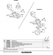 Shimano Schellenklemmschraube fuer XTR Umwerfer