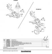 Shimano E-Type Befestigungsplatte XTR Umwerfer 9x3 fach