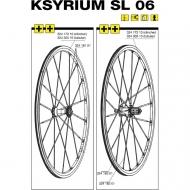 Mavic Ksyrium SL Ersatzfelge Hinterrad silber Clincher Modell 2006