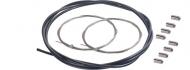 Shimano Bremszugset schwarz 1,75 m Huelle, 2 x Innenzuge Edelstahl, 8 x Endkappen