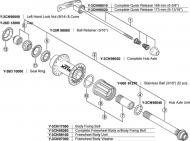 Shimano XTR Schnellspanner Hinterrad fuer FHM 970/975, 168 mm Achse