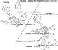 Shimano E-Type Befestigungschraube A fuer XT Umwerfer 5CR98020