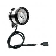 Schmidt Son Edelux II Fahrradlampe silber poliert 100 cm Kabel Koax Stecker + Adapter 90 Lux