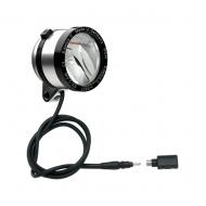 Schmidt Son Edelux II Fahrradlampe silber eloxiert 100 cm Kabel Koax Stecker + Adapter 90 Lux