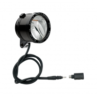 Schmidt Son Edelux II Fahrradlampe schwarz 100 cm Kabel Koax Stecker + Adapter 90 Lux