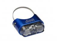 Schmidts SON Ruecklicht Sattelstuetze 190cm Kabel Farbe blau Glas klar
