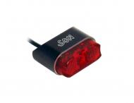 Schmidts SON Ruecklicht Schutzblech 190cm Kabel weites Profil Farbe schwarz Glas rot