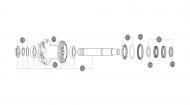 Mavic Hinterrad MTB Nabe - Zahnscheibenaufnahme mit Sicherungsring fuer ID360 Auto Adjust System