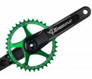 Race Face Turbine Cinch Kurbel 175 mm schwarz - Narrow Wide Kettenblatt farbig