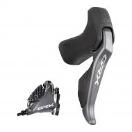 Shimano GRX Scheibenbremse Di2 ST-RX815 STI Dual Control rechts 11 fach + Bremssattel BR-RX810 Flat Mount