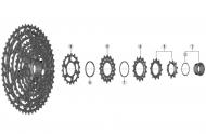Shimano SLX 12 fach CS M7100 Kassetten Ersatzteil - Verschlussring mit Unterlegscheibe Nr 1