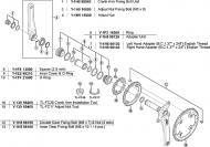 Shimano XTR Innenlagerschale links fuer XTR FCM 970
