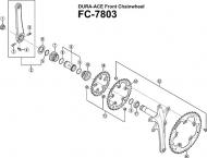 Shimano Dura Ace Kettenblattschrauben M8x9,1, 5 Stueck