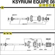 Mavic Ksyrium Equipe Hinterrad Achs Kit