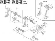 Shimano XT Schaltrollen Befestigungsschraube RDM 770 + 771